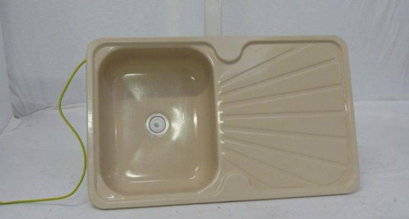 caravan used cream colour enamel kitchen sink - Enamel Kitchen Sink