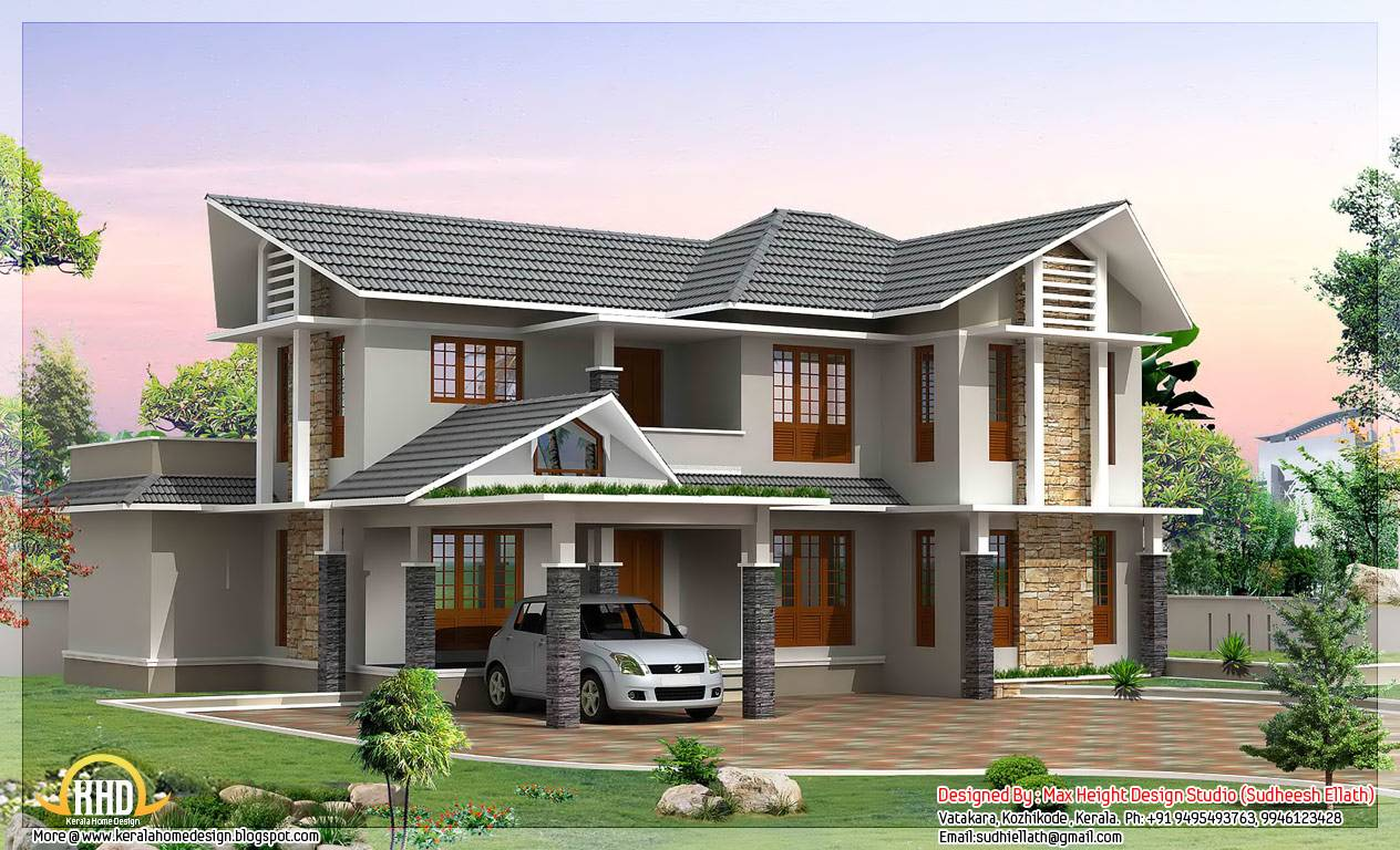 Double Storey Home Designs In India