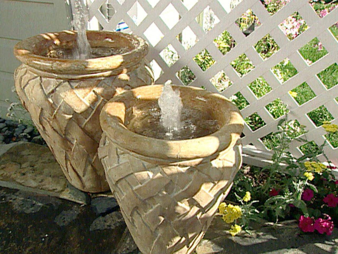 Terra cotta fountain how to build menards youtube - Hgpg Water Feature Pot Fountains These