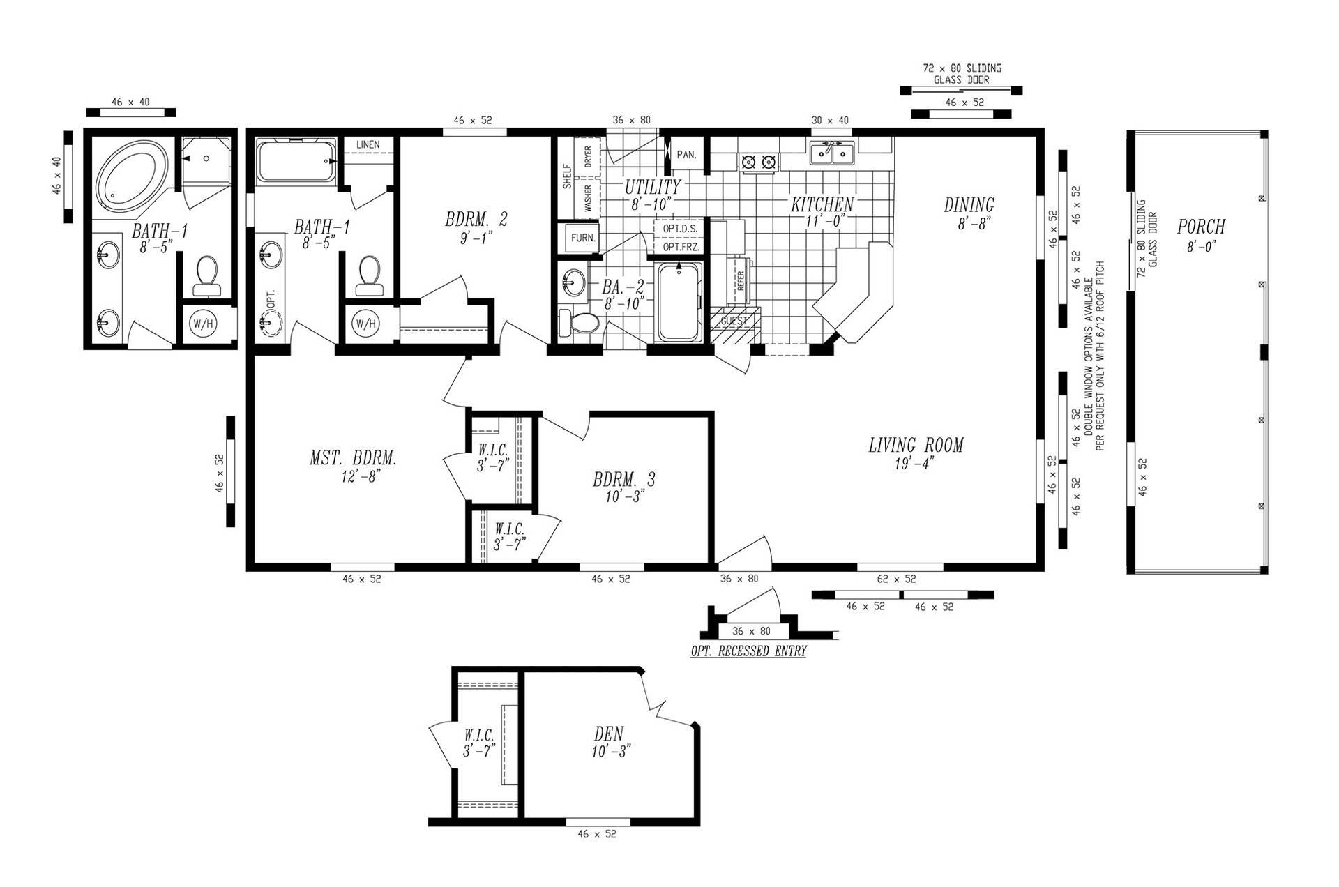 manufactured home floor plan marlette simplicity sim - kaf mobile