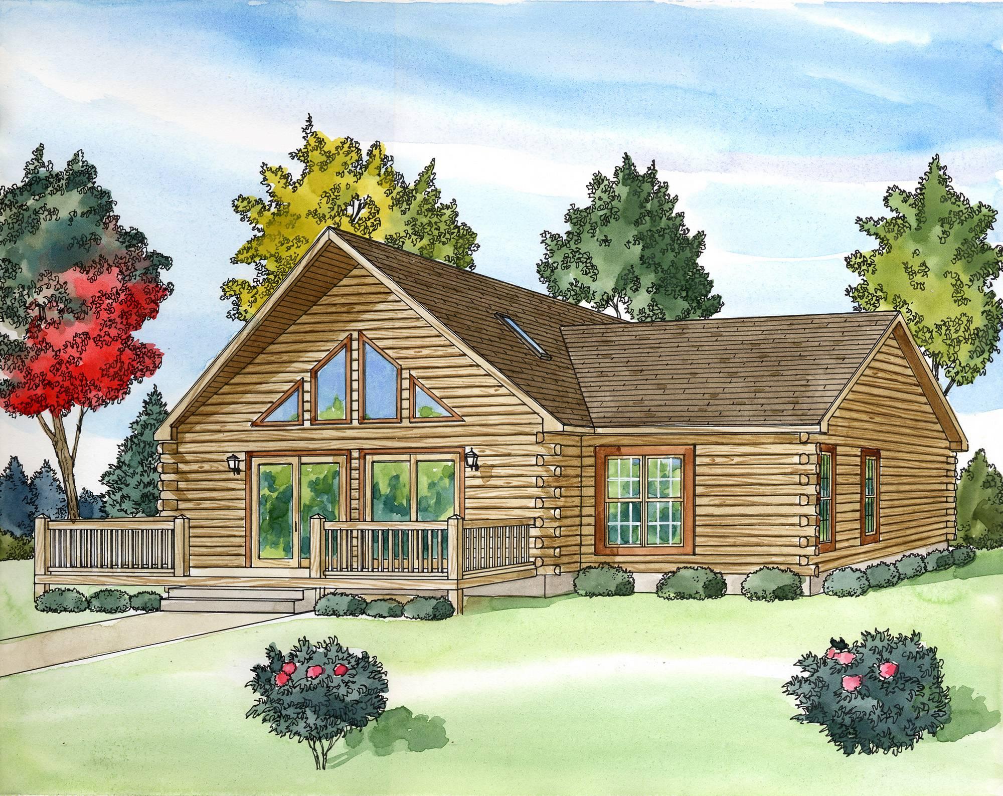 Modular Log Home Plans Custom Build Homes Kaf Mobile Homes 16079