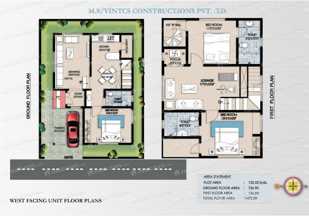 emejing north facing house plans in 30x40 site contemporary