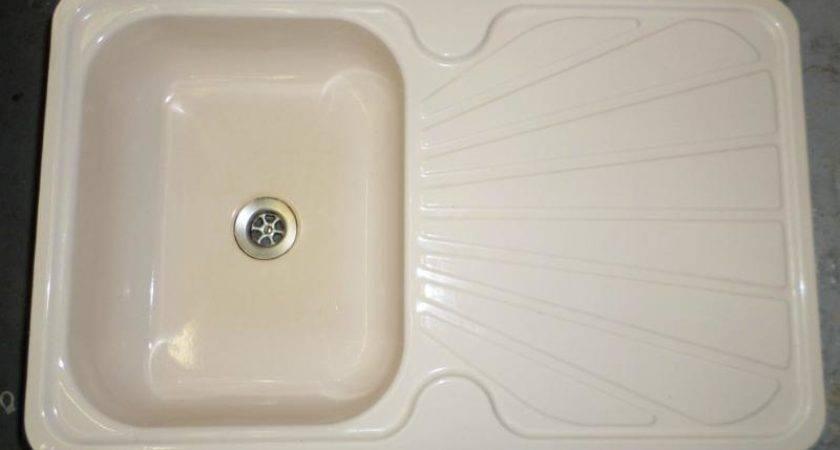 used cream colour enamel kitchen sink unit sinks - Enamel Kitchen Sink
