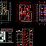 Apartment House Autocad Drawing Bibliocad