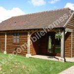 Barn Style Garden Lodge Feature Oak Beams