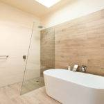 Bathroom Features Natural Look Ceramic Timber Tile Floor