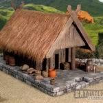Battleground Hobbies Build Viking Lodge Trading Post