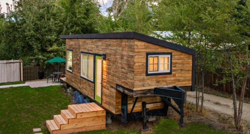 Beautiful House Built Flatbed Trailer Home Design Garden
