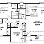 Bedroom Bath House Plan Less Than Square Feet Plans