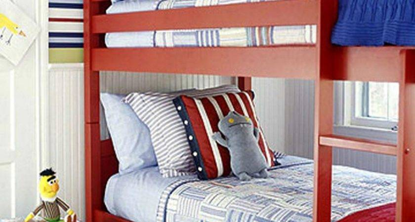 Bedroom Fascinating Red Blue Decoration Using