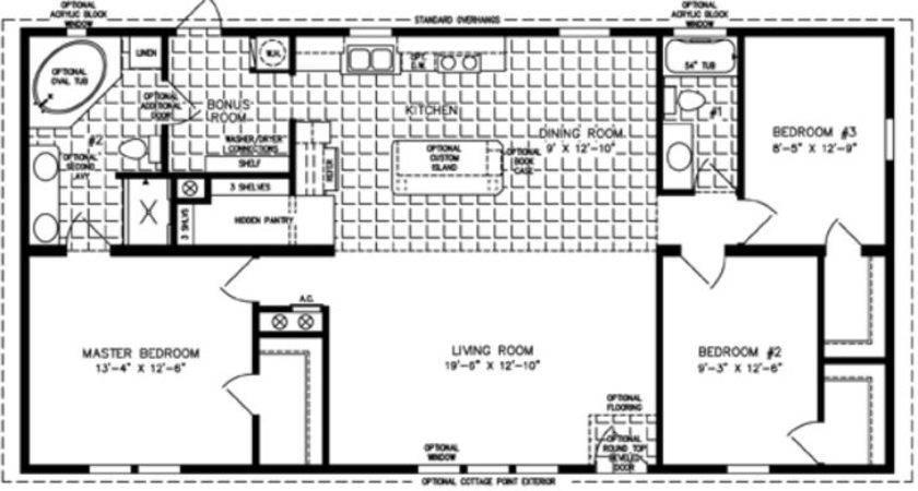 Bedroom Mobile Home Floor Plan Homes Sale