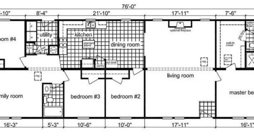 Bedroom Modular Home Floor Plan Ranch