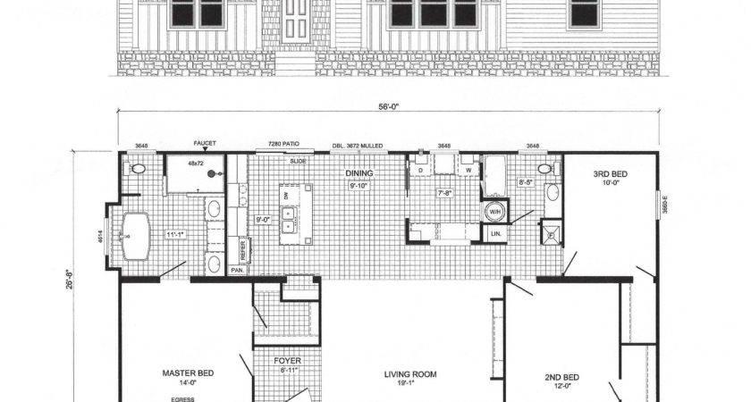 Bedroom Modular Home Floor Plans Also