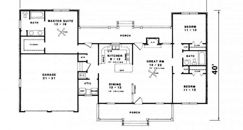 Bedroom Ranch House Plans Home Design Ideas