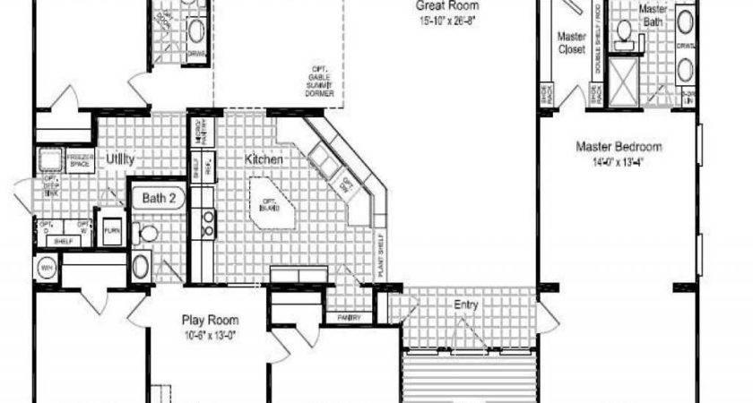 Bedroom Triple Wide Mobile Homes Floor Plans