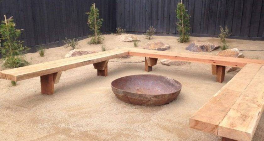 Best Build Curved Bench Seating Fire Pit Plans