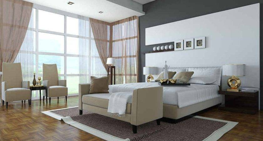 Big Bedroom Floor Ceiling Windows Interior Design