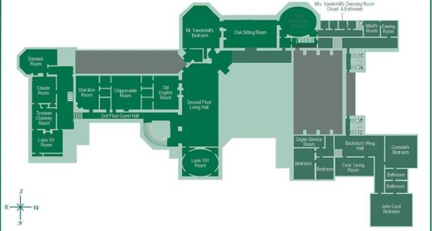 Biltmore Estate Floor Gilded Era Mansion Plans Pinterest