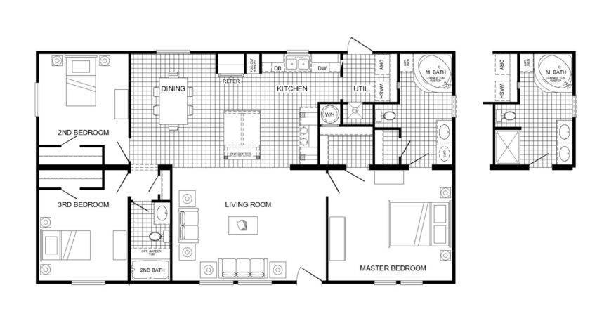 Brilliant Manufactured Homes Floor Plans Furniture