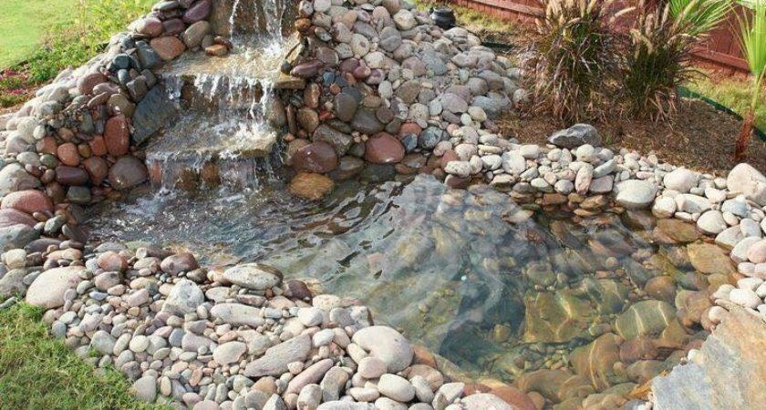 Build Backyard Pond Waterfall Home Design Garden