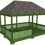 Build Gazebo Roof Diy Plans Garage