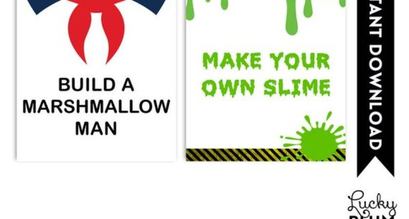 Build Marshmallow Man Sign Make Your Own Slime