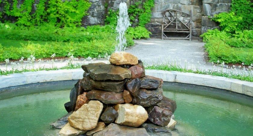 Build Outdoor Fountain Rocks