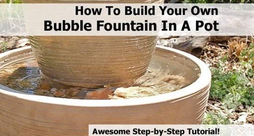 Build Your Own Bubble Fountain Pot