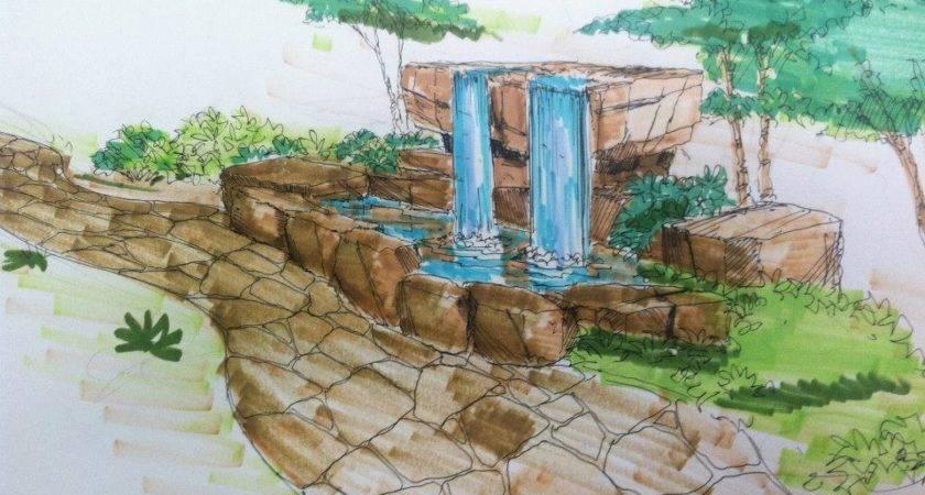 Building Backyard Water Feature Neptune Panels Blog