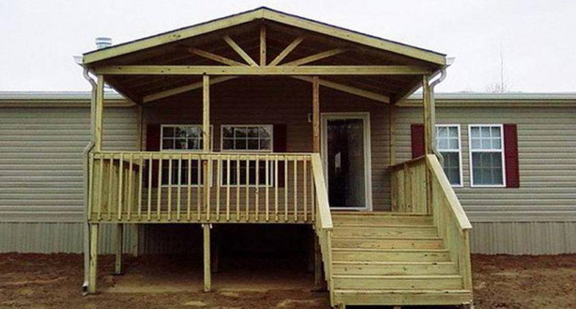 Building Small Porch Mobile Home Design Homes