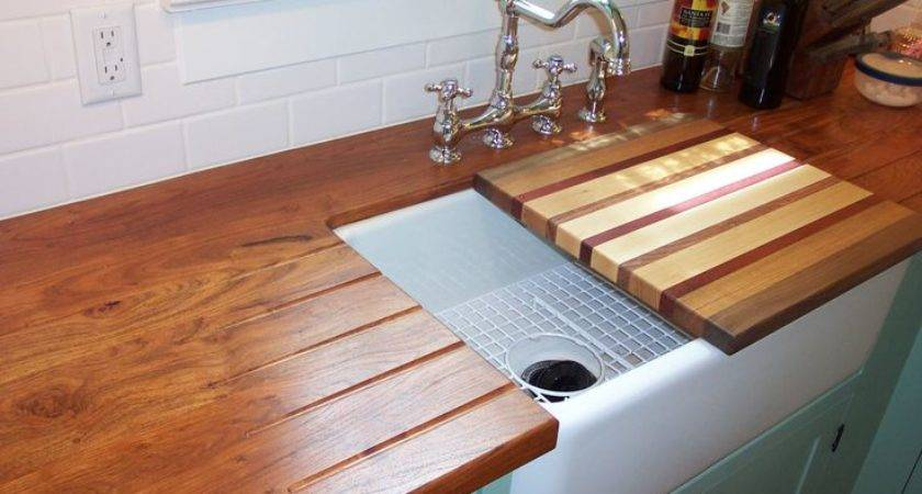 Built Drain Board Counter Top Custom Over Sink
