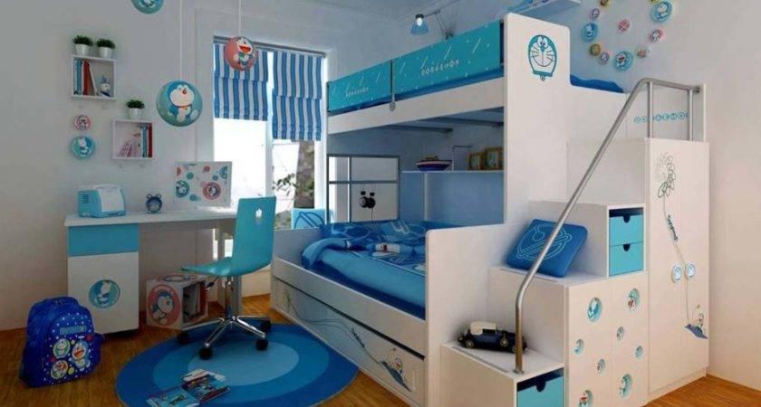 Bunk Beds Girls Room Design Ideas Blue