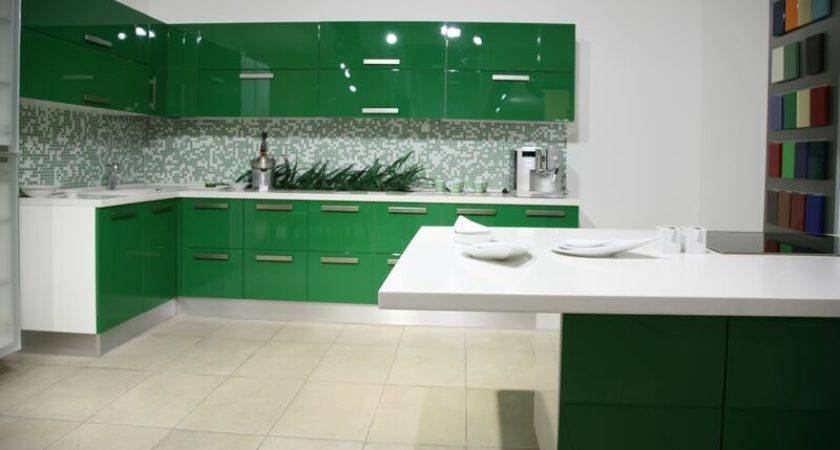 Cabinets Kitchen Green