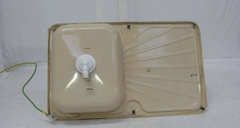 Caravan Used Cream Colour Enamel Kitchen Sink