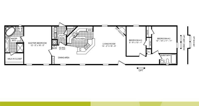 Cavco Homes Floor Plan Bedroom Bath Single Wide