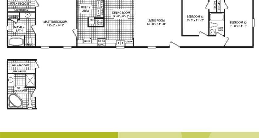 Cavco Homes Floor Plan Ltd Bedroom Bath Single Wide