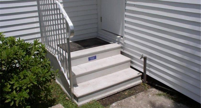 Century Three Tread Precast Concrete Stoop Handrail