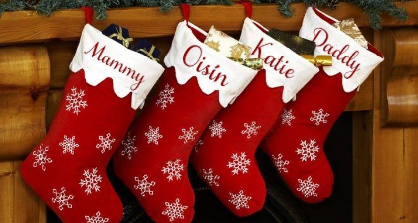 Christmas Stocking Designs Red Stockings Via