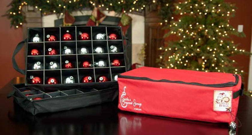 Christmas Tree Ornament Storage Bag Red Box