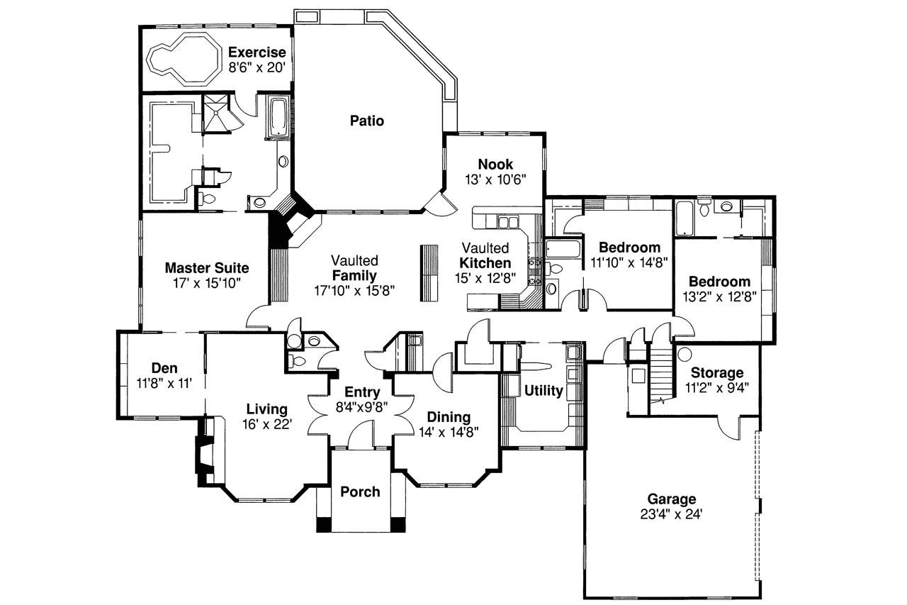 Classic House Plan Brentwood Floor
