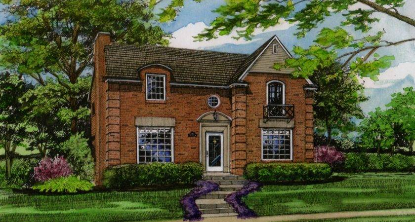 Classicly Elegant Brick Home Custom House Portraits Richelle