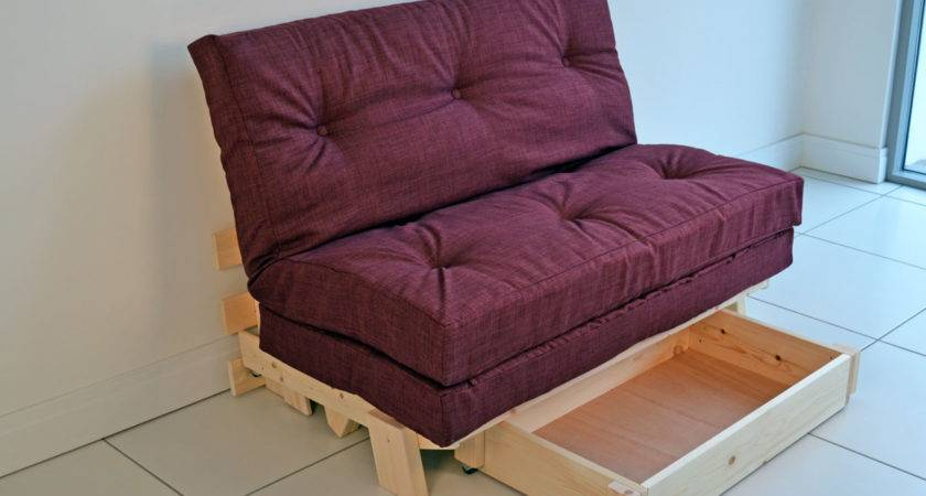Compact Futon Sofa Bed Double Small Footprint