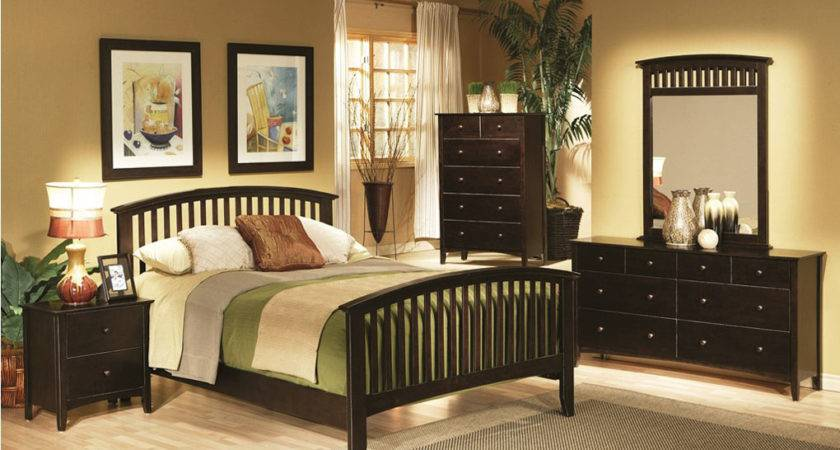 Contemporary Cappuccino Bedroom Set Sets