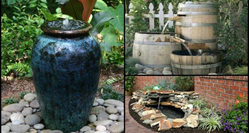 Contrary Seems Building Garden Fountain Yourself Not
