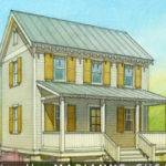 Cottage Beds Baths Plan Front Elevation