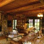 Cottage Home Interiors Stone Fireplace
