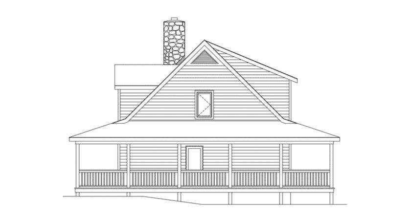 Country House Plan Right Elevation Plans More