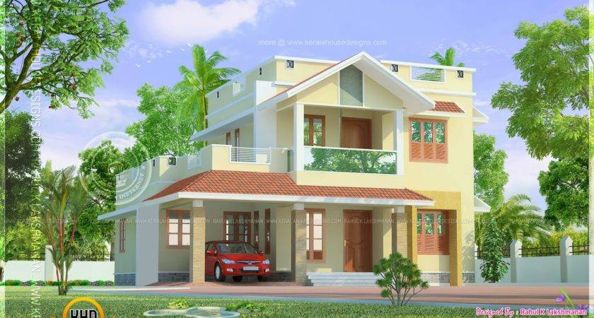 Cute Little Two Storied Home Design Kerala Plans