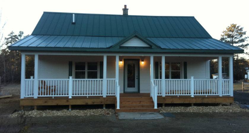 Dark Mobile Home Front Porch White Wall Applied Erins Creative