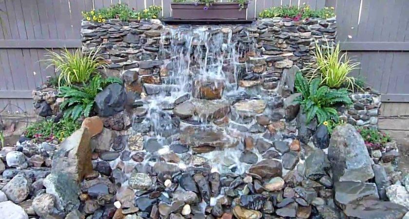 Diy Backyard Waterfall Youtube